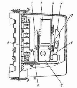 Общий вид промежуточного реле РП-25