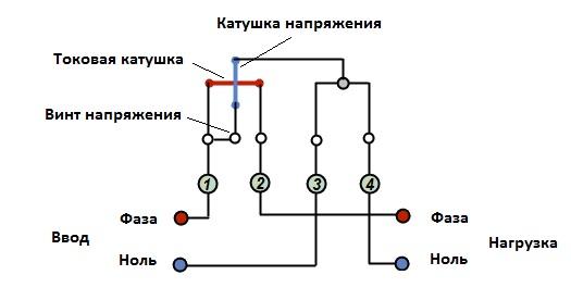 sxema_podklyucheniya_elektroschetchika_схема_подключения_однофазного_электросчетчика