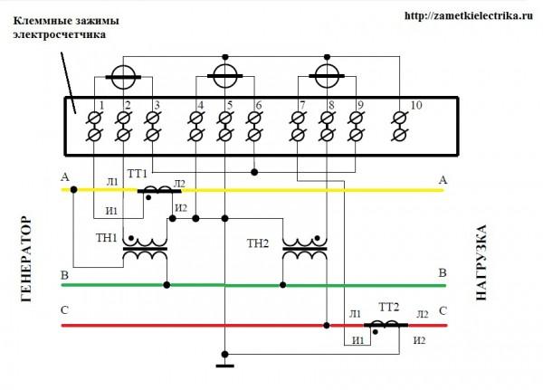 Схема подключения счетчика к