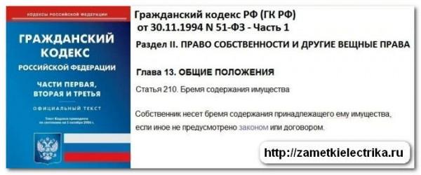 Гражданский Кодекс РФ, ст. 210