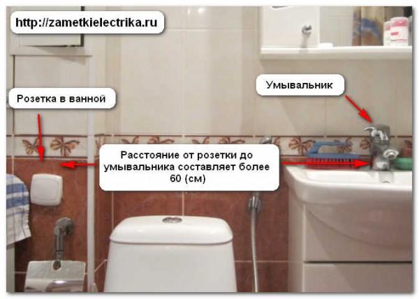 Схема установки розеток в комнате