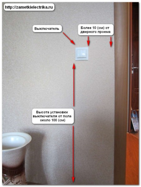 Какие стандарты установки выключателей и розеток
