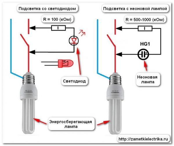 Светодиод или неоновая лампа
