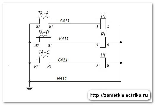 Схема трехфазного счетчика в щитке