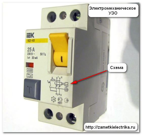Типы УЗО, Заметки электрика