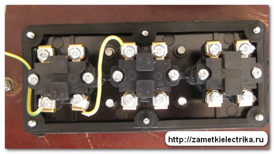 """2.3. Блокируем нормально разомкнутый контакт: соединяем контакт 2 кнопки  """"Пуск """" с блок-контактом магнитного пускателя..."""
