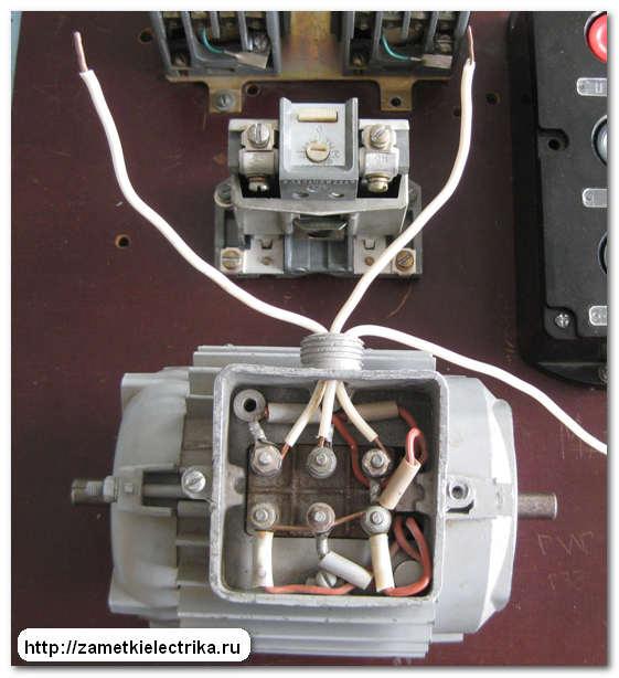 Алгоритм (порядок выполнения) сборки схемы нереверсивного пуска асинхронного двигателя (АД) .