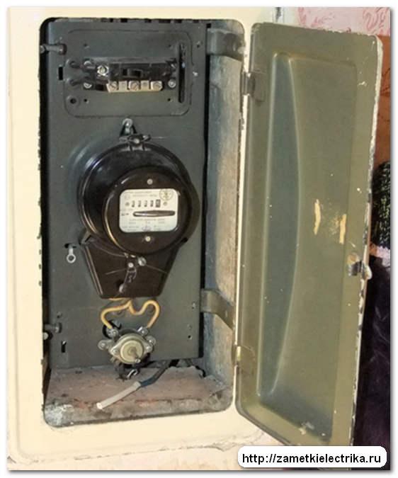 Замена встраиваемого квартирного электрического щитка.  Старый квартирный встраиваемый щиток.
