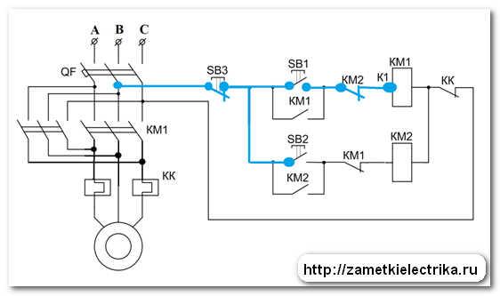 магнитного пускателя КМ1.