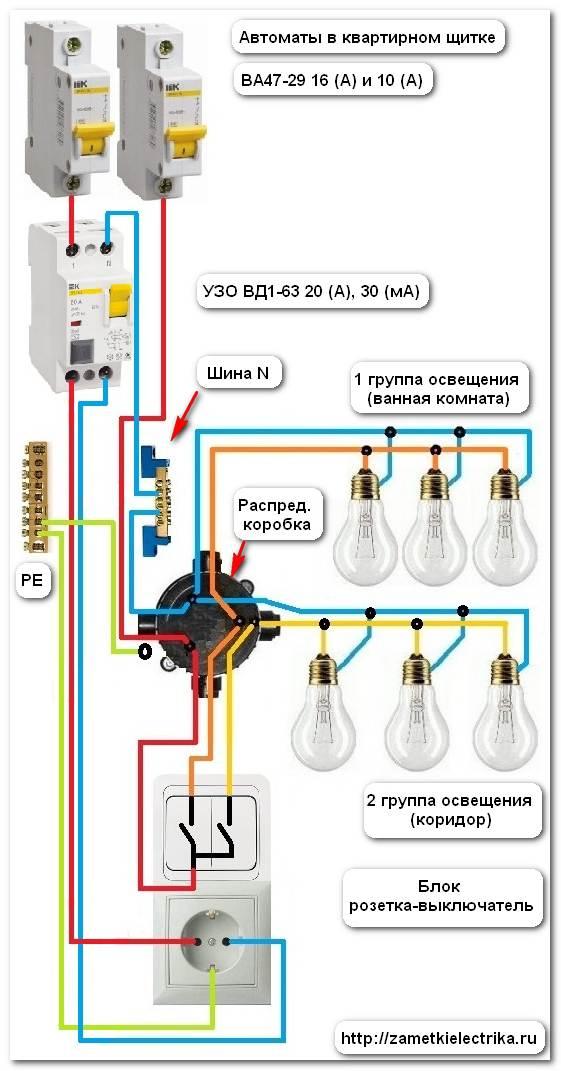 цепь освещения — автоматом